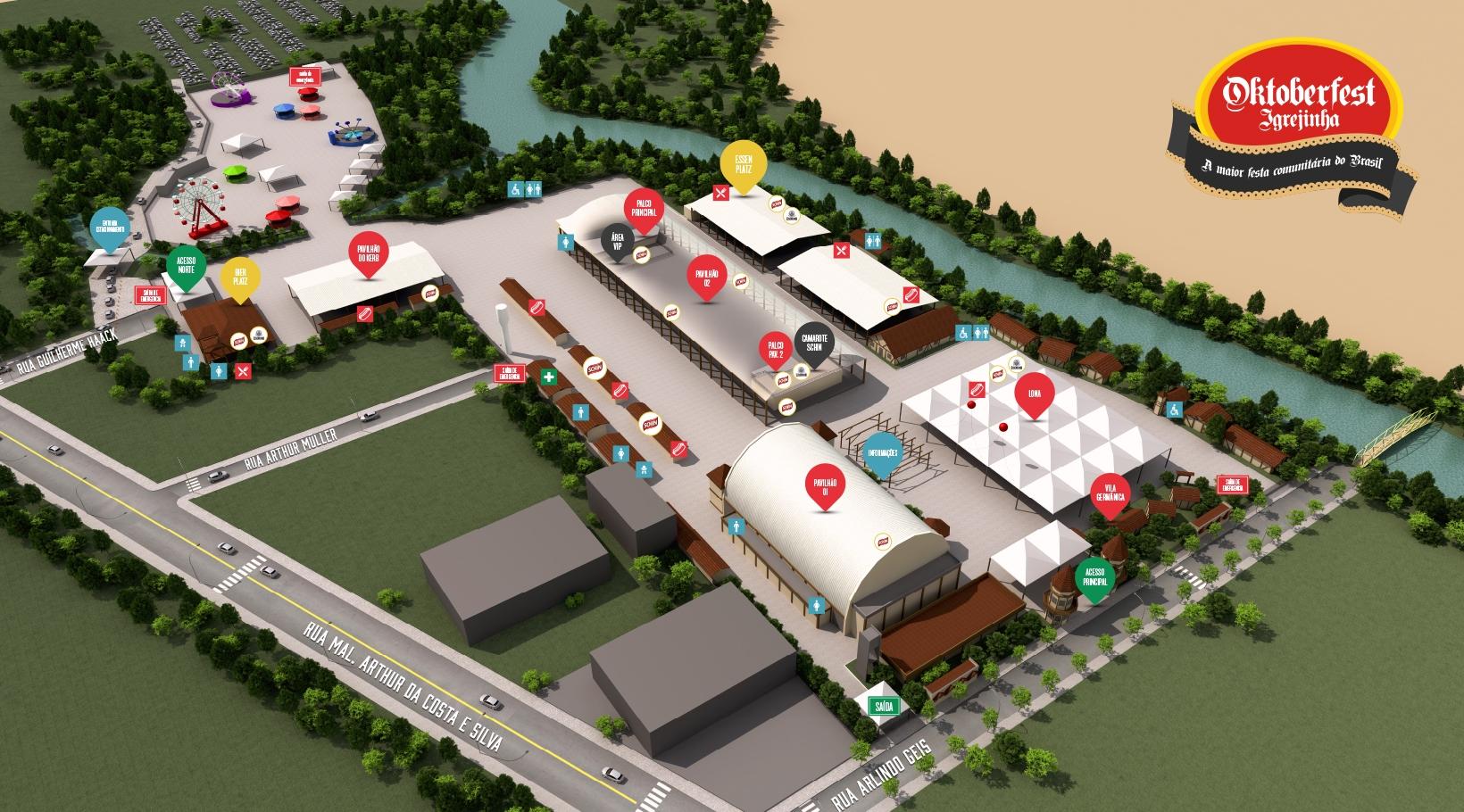 imagem do mapa do parque da oktoberfest