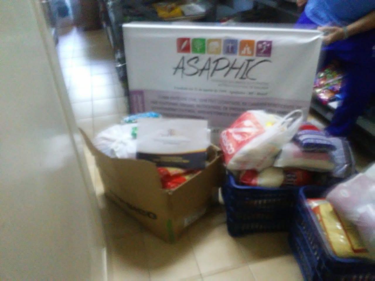 SOCIALIZAÇÃO: ASAPHIC doa alimentos para o Lar Padilha
