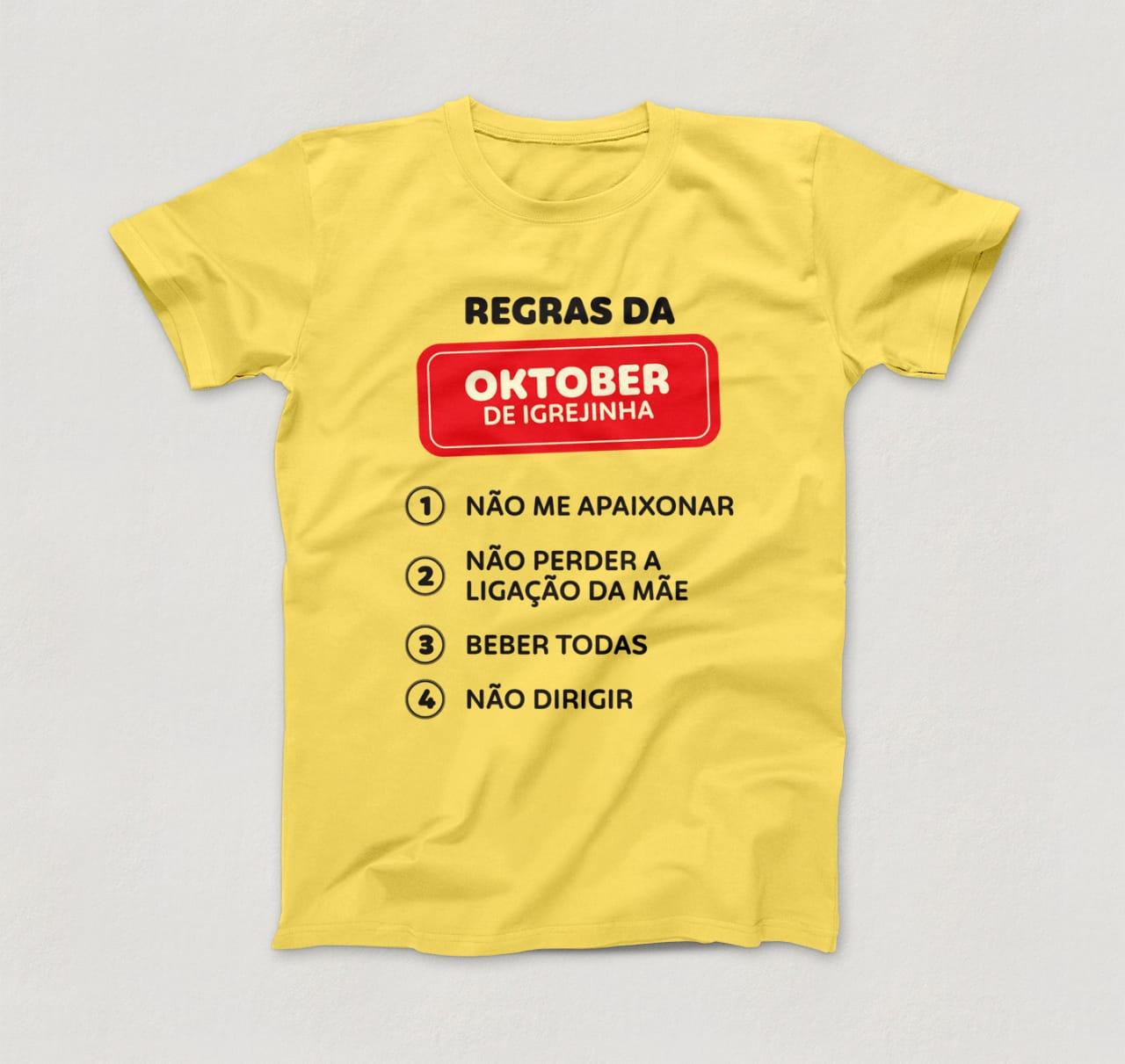 Camisetas divertidas são a novidade nos itens de recordação da Oktober