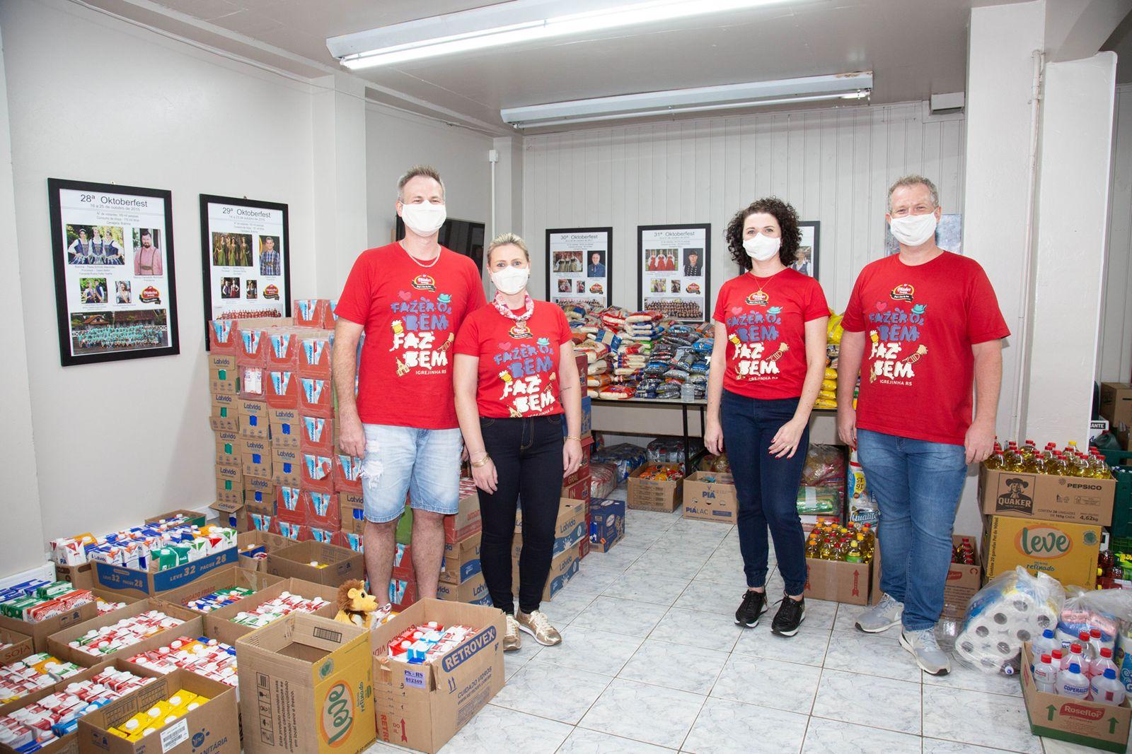 Grande Ação da Oktoberfest de Igrejinha arrecada mais de três toneladas de alimentos